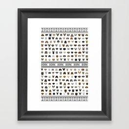 Pixel Pups Framed Art Print