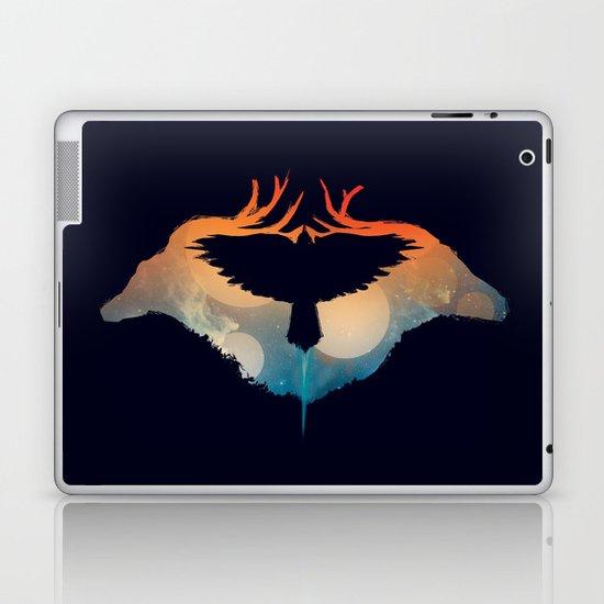 Night sky over savanna Laptop & iPad Skin