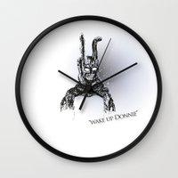 donnie darko Wall Clocks featuring Donnie Darko by Altay