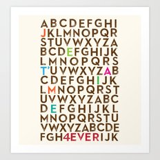 Je T'aime 4 Ever Art Print
