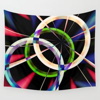 circles Wall Tapestries featuring circles by haroulita