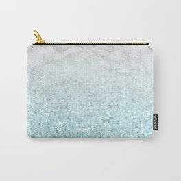 She Sparkles - Turquoise Sea Glitter Marble Carry-All Pouch
