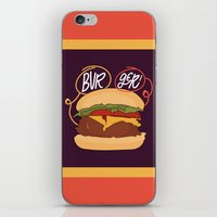 burger iPhone & iPod Skins featuring Burger! by Chelsea Herrick