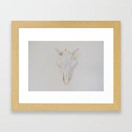 Pearly White Framed Art Print