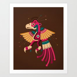 """Chiconcuetzalli"" The Scarlet Art Print"