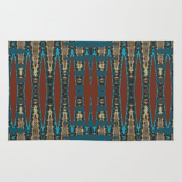 South Western Color Palette Mosaic Pattern Rug