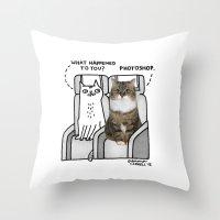 gemma Throw Pillows featuring Photoshop by gemma correll