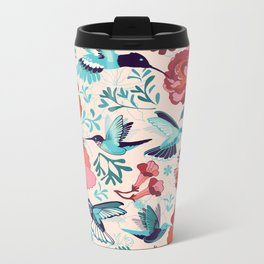 Hummingbird summerdance Metal Travel Mug