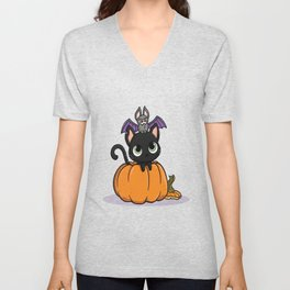 Cute Halloween Illustration Unisex V-Neck