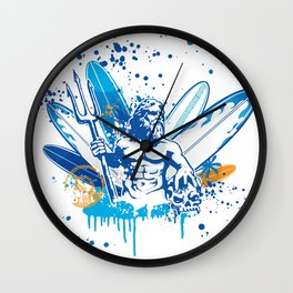 poseidon surfer II Wall Clock