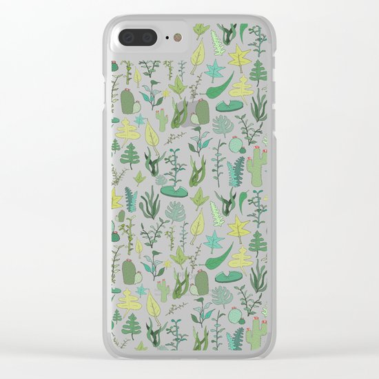 Natural Pattern collab. Clear iPhone Case