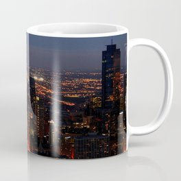 Chicago Night Lights/Hancock Tower View #1 (Chicago Architecture Collection) Coffee Mug