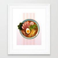 ramen Framed Art Prints featuring Ramen by Tami Wicinas