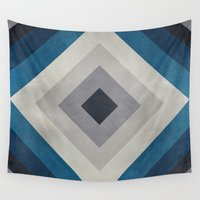 greece Wall Tapestries featuring Greece Hues Tunnel 2 by Diego Tirigall