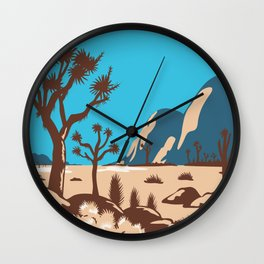 Joshua Tree National Park Riverside County California United States WPA Poster Art Color Wall Clock
