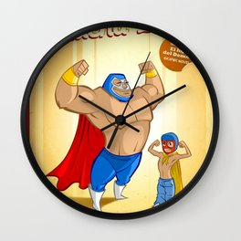 Lucha Libre Wall Clock