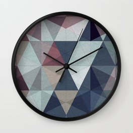 geometric pattern winter pink rose violet Wall Clock