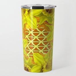 GOLDEN YELLOW SPRING DAFFODILS PATTERN GARDEN Travel Mug
