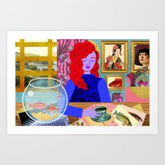 Aquarium Room Art Print