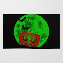 Full Halloween Moon Rug