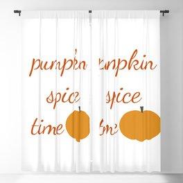 Pumpkin Spice Time Blackout Curtain