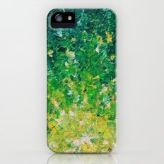 LAKE GRASS - Original Acrylic Abstract Painting Lake Seaweed Hunter Forest Kelly Green Water Lovely Slim Case iPhone (5, 5s)