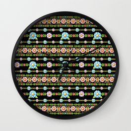 Millefiori Boho Chic Stripe Wall Clock