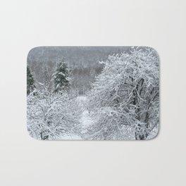 Vermont Winter Habitat in Snow Bath Mat