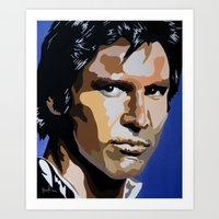 han solo Art Prints featuring Han Solo by iankingart