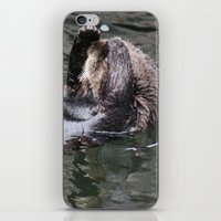 otter iPhone & iPod Skins featuring Otter by RMK Photography