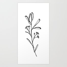 Gum Tree Branch with Blossom by Jess Cargill Art Print