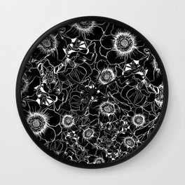 Black garden Wall Clock