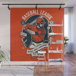 BASEBALL LEAGUE - Baseball World Championship Wall Mural