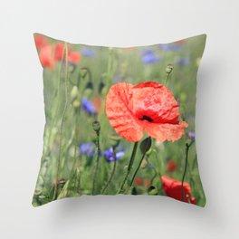 poppy flower no16 Throw Pillow