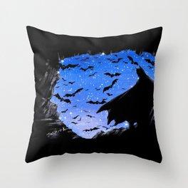 Batmaninthe Batcave Throw Pillow