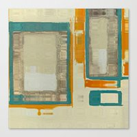 mid century Canvas Prints featuring Mid Century Modern Abstract by Corbin Henry