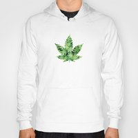 cannabis Hoodies featuring Cannabis Leaf by Teo Sharkson