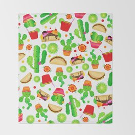 Fiesta Tacos Throw Blanket