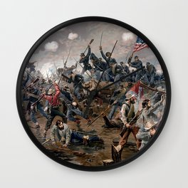 Battle of Spottsylvania by Thure de Thulstrup Wall Clock