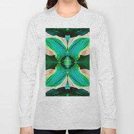 206 - Hosta plant abstract design Long Sleeve T-shirt