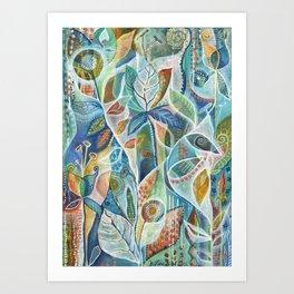 Secret Garden by Justine Aldersey-Williams Art Print