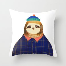 Hipster Sloths be like. Throw Pillow