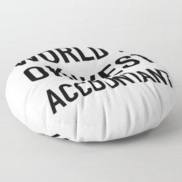 WORLD'S OKAYEST ACCOUNTANT Black Typography Floor Pillow