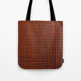 Navy and Rust (XV) Thread Pattern Tote Bag