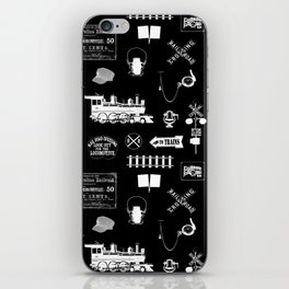 Railroad Symbols on Black iPhone Skin