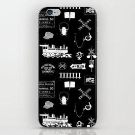 Railroad Symbols on Black iPhone Skin