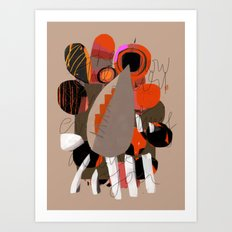 some thoughts 6 Art Print