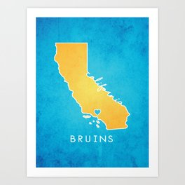 UCLA Bruins Art Print