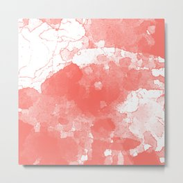 Living Coral Abstract Metal Print