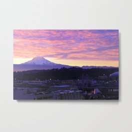 Sunrise over Tacoma Metal Print